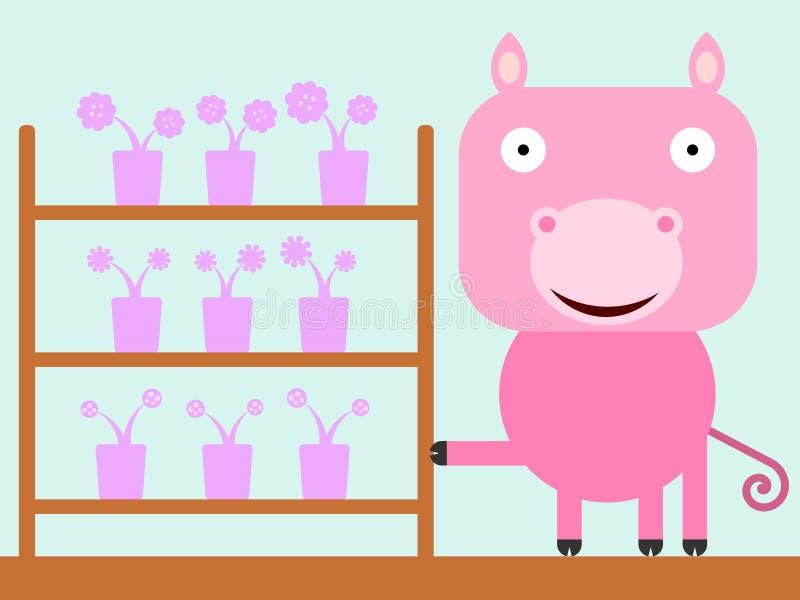 Il negozio del maiale royalty illustrazione gratis