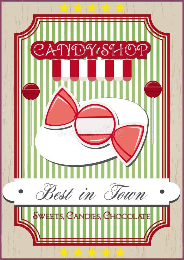Il negozio di Candy illustrazione di stock