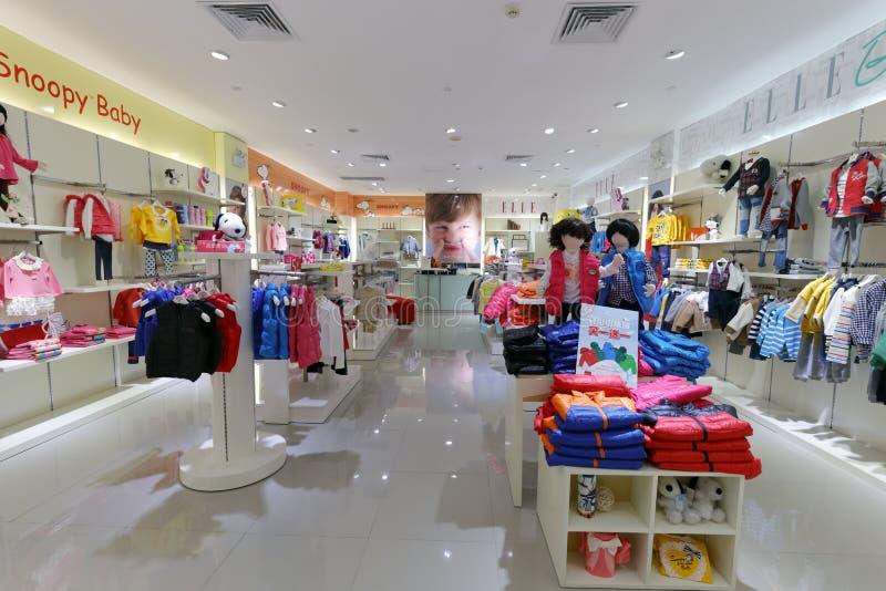 Il negozio francese famoso dell'abbigliamento del elle di stile, adobe rgb fotografie stock libere da diritti