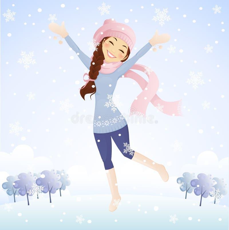 Il neige illustration libre de droits