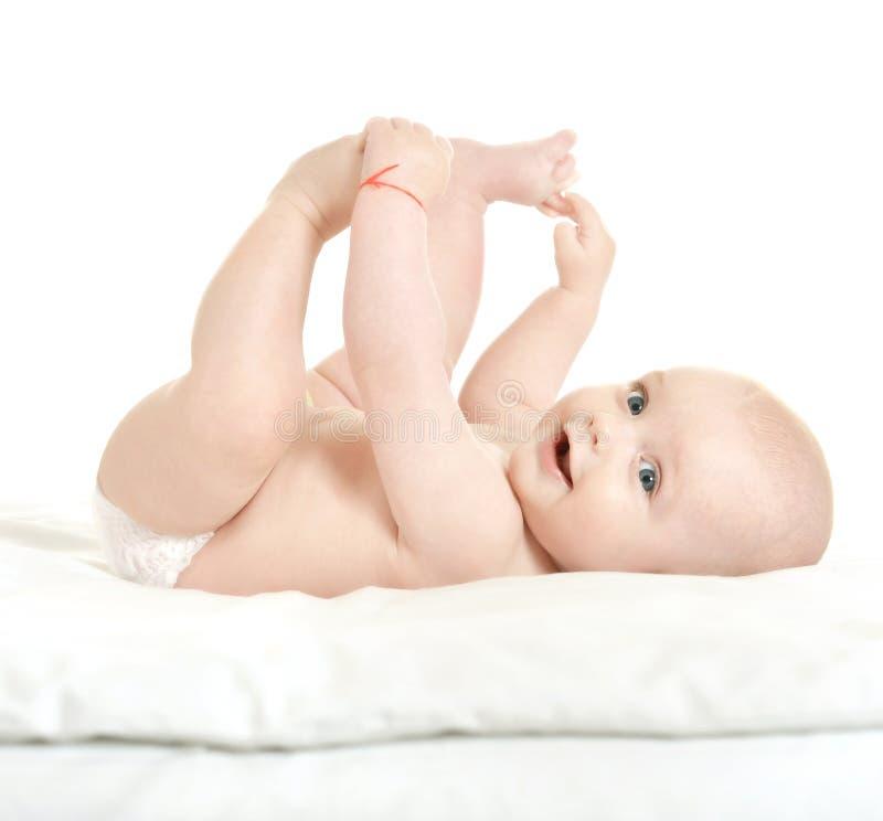 Il neonato adorabile dentro vizia fotografie stock libere da diritti