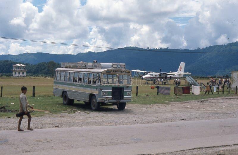 Il Nepal. Aeroporto di Pokhara. fotografia stock