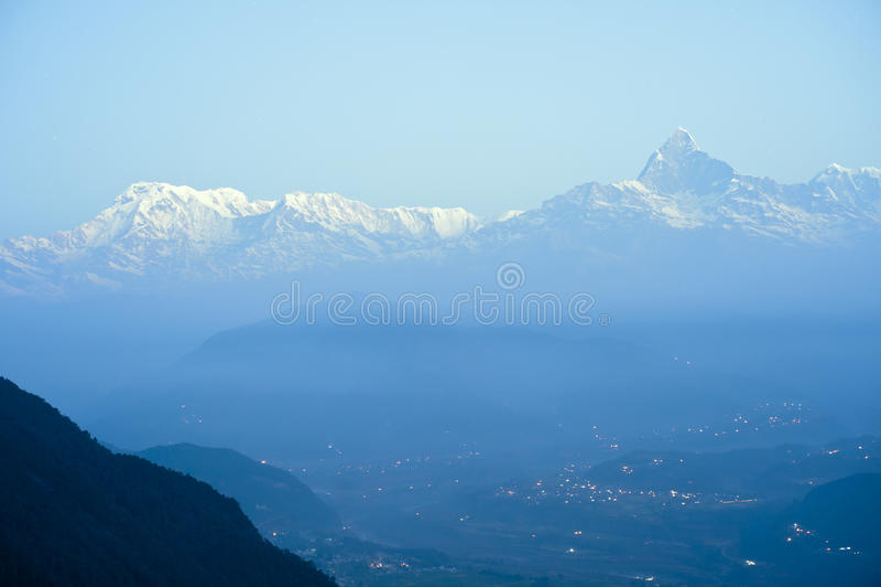 Il Nepal Pokhara, picco del Fishtail immagine stock libera da diritti