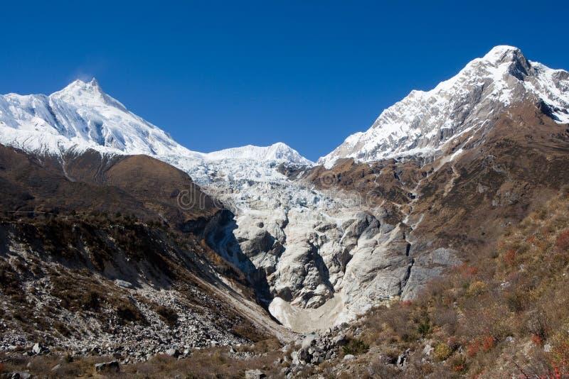 Il Nepal. Vicinanze di Manaslu della montagna. immagini stock libere da diritti