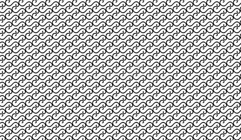 Il nero astratto moderno semplice ha curvato la linea modello della maglia fotografia stock