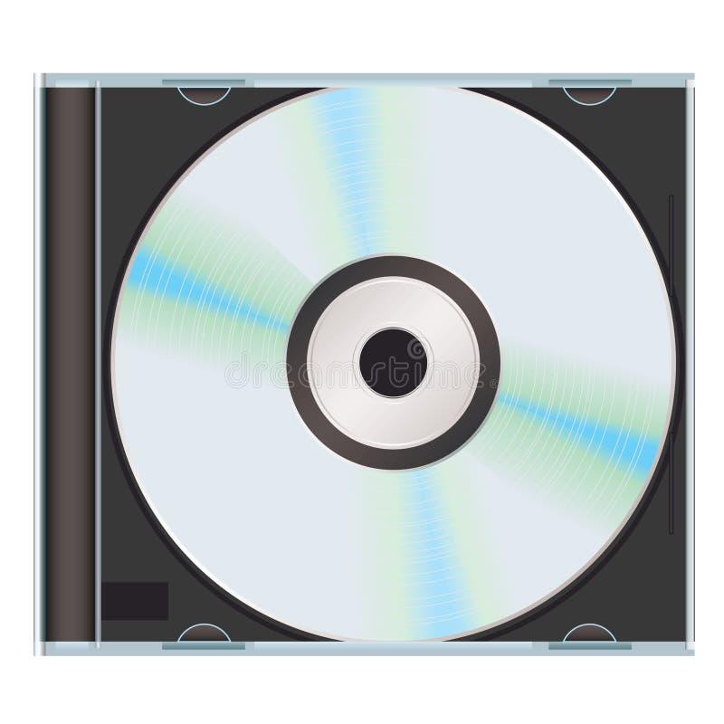Il nero cd di caso di musica illustrazione di stock