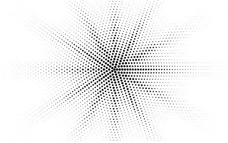 Il nero comico ha punteggiato progettazione di stile di Pop art di semitono di pendenza la retro su fondo bianco Stella o sole mo illustrazione vettoriale