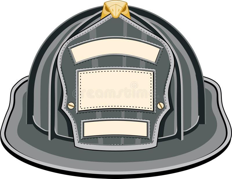 Il nero del casco del pompiere royalty illustrazione gratis