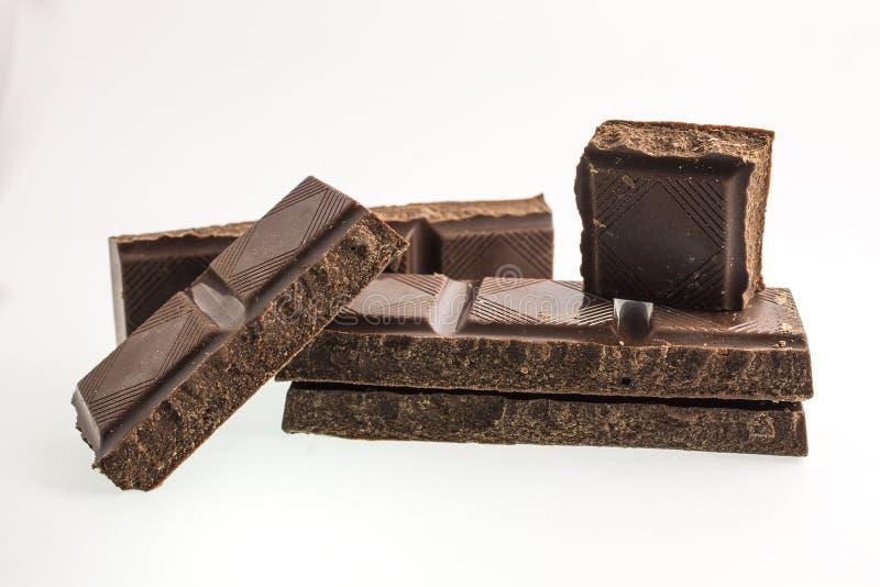 Il nero del cioccolato fotografia stock