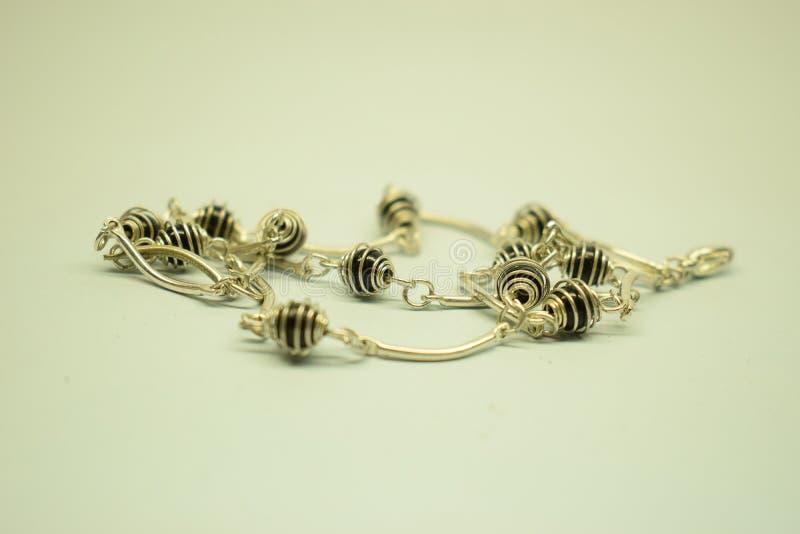 Il nero del onix del braccialetto immagine stock
