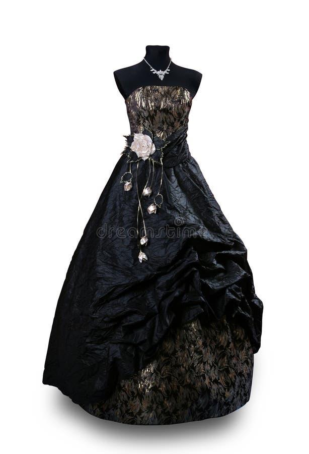 Il nero del vestito da sera fotografia stock