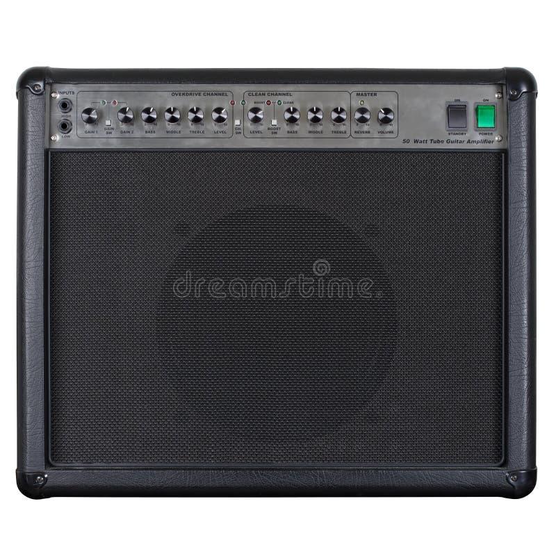 Il nero dell'amplificatore della chitarra fotografie stock libere da diritti
