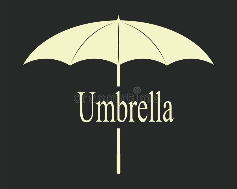 Il nero dell'annata dell'ombrello fotografia stock