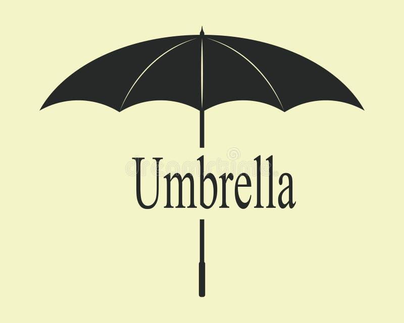 Il nero dell'annata dell'ombrello immagini stock libere da diritti