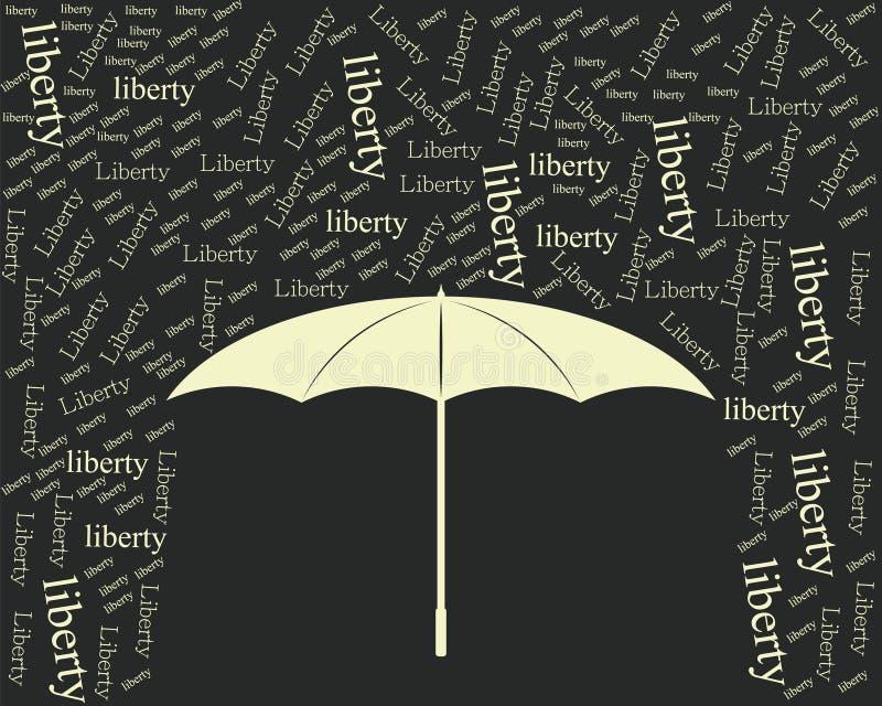 Il nero dell'annata dell'ombrello di libertà fotografia stock libera da diritti