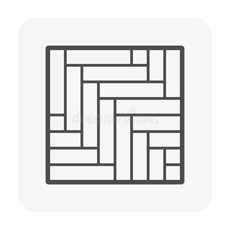 Il nero dell'icona del pavimento royalty illustrazione gratis