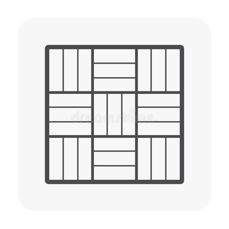 Il nero dell'icona del pavimento illustrazione di stock