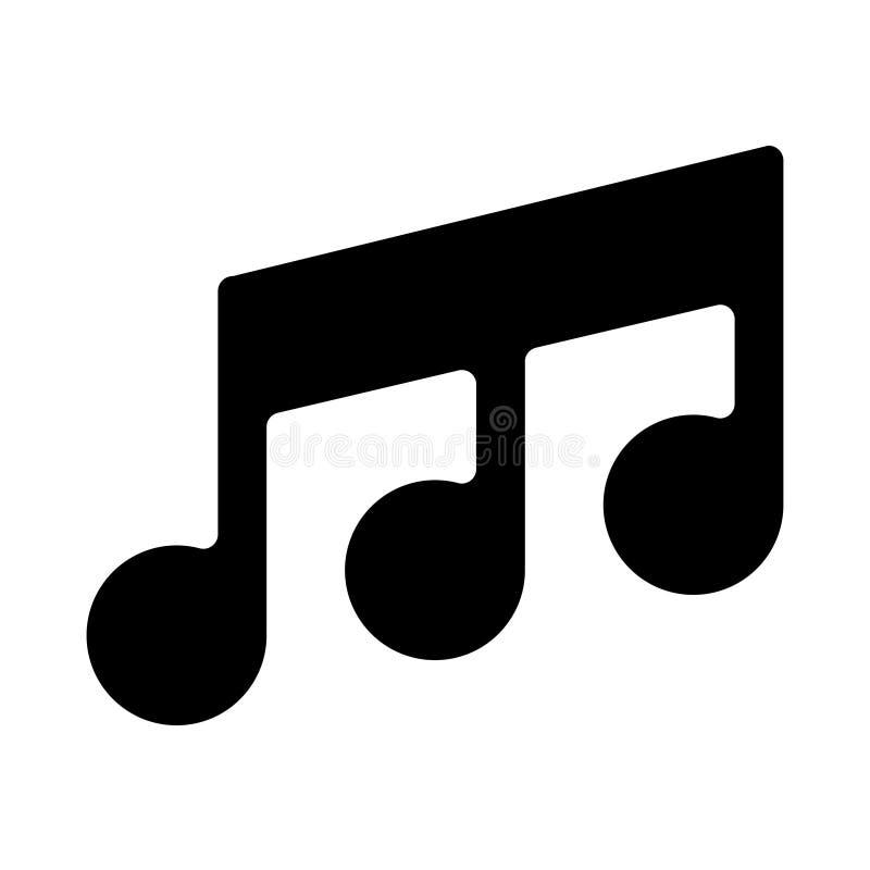 Il nero dell'icona della nota sul vettore bianco del fondo illustrazione di stock