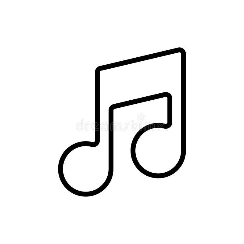 Il nero dell'icona della nota sul vettore bianco del fondo royalty illustrazione gratis