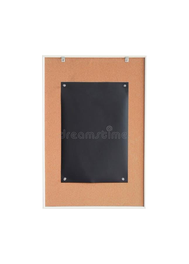 Il nero della carta sul contrassegno di legno del bordo immagini stock libere da diritti
