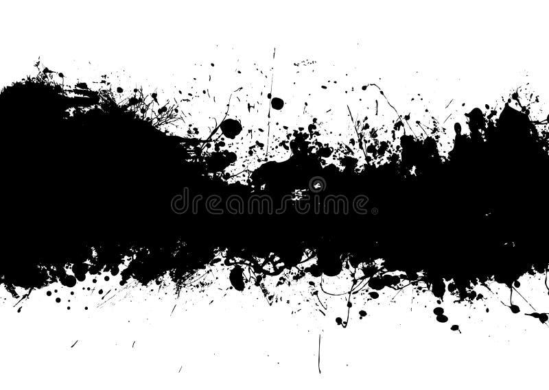 Il nero della fascia dello splat dell'inchiostro illustrazione vettoriale