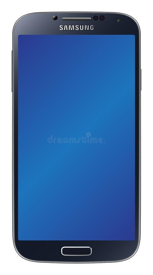 Il nero della galassia S4 di Samsung illustrazione di stock