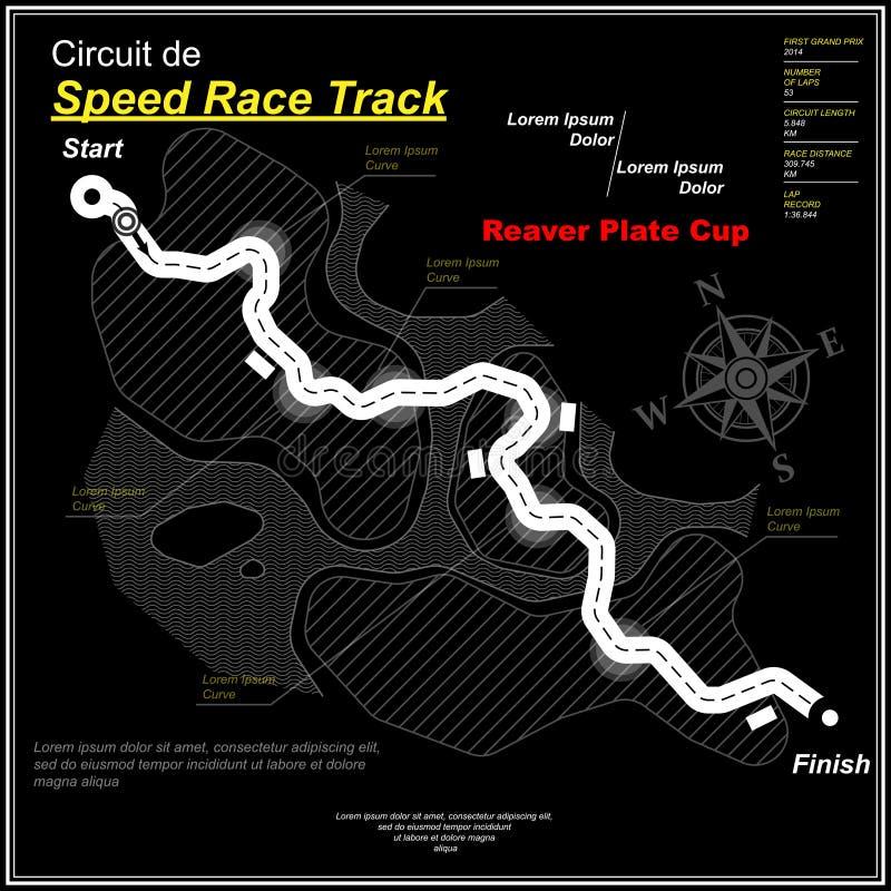 Il nero della pista di velocità della strada principale di Eaglesong royalty illustrazione gratis