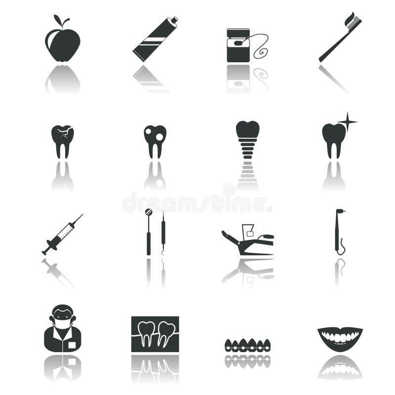 Il nero dentario delle icone royalty illustrazione gratis