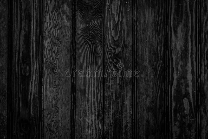 Il nero di legno riveste il fondo di pannelli fotografia stock libera da diritti
