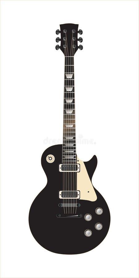 Il nero di Les Paul della chitarra royalty illustrazione gratis