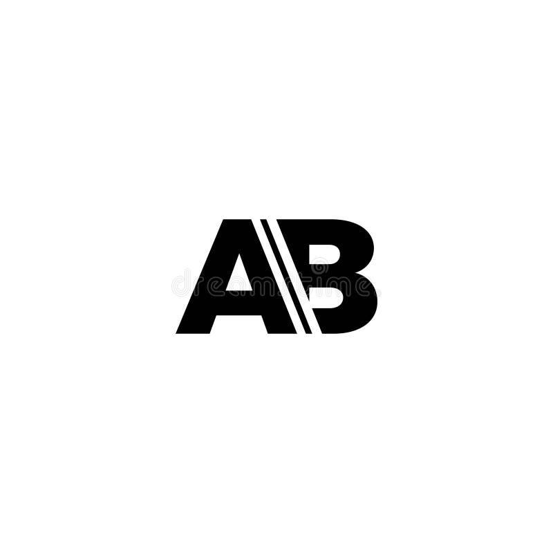 Il nero di logo della lettera di ab illustrazione vettoriale