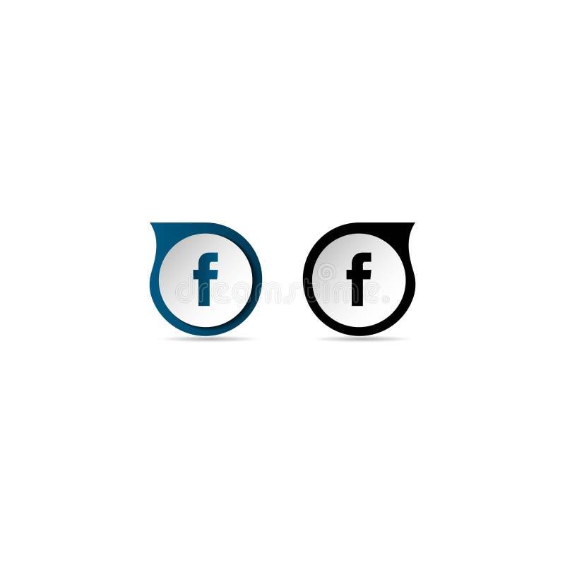Il nero di logo di F e blu illustrazione di stock