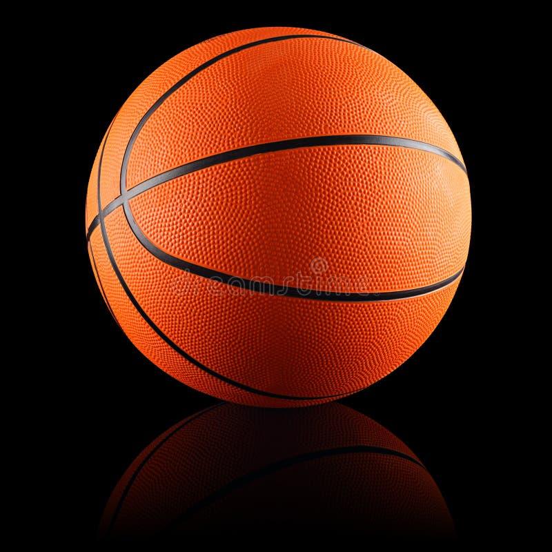 Il nero di pallacanestro fotografia stock