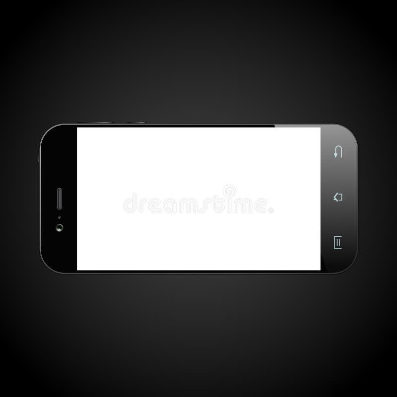 Il nero di Smartphone isolato royalty illustrazione gratis
