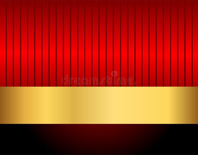 Download Il nero e rosso dell'oro illustrazione vettoriale. Illustrazione di nero - 30828205