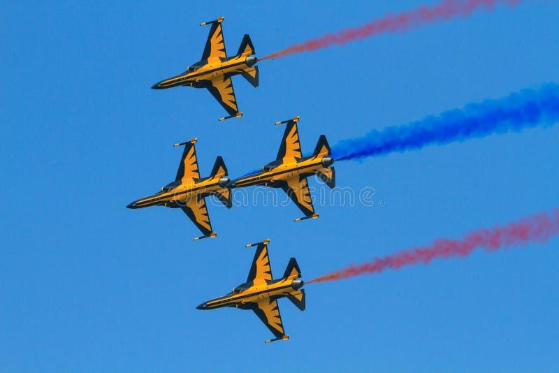 Il nero Eagles di ROKAF fotografie stock libere da diritti