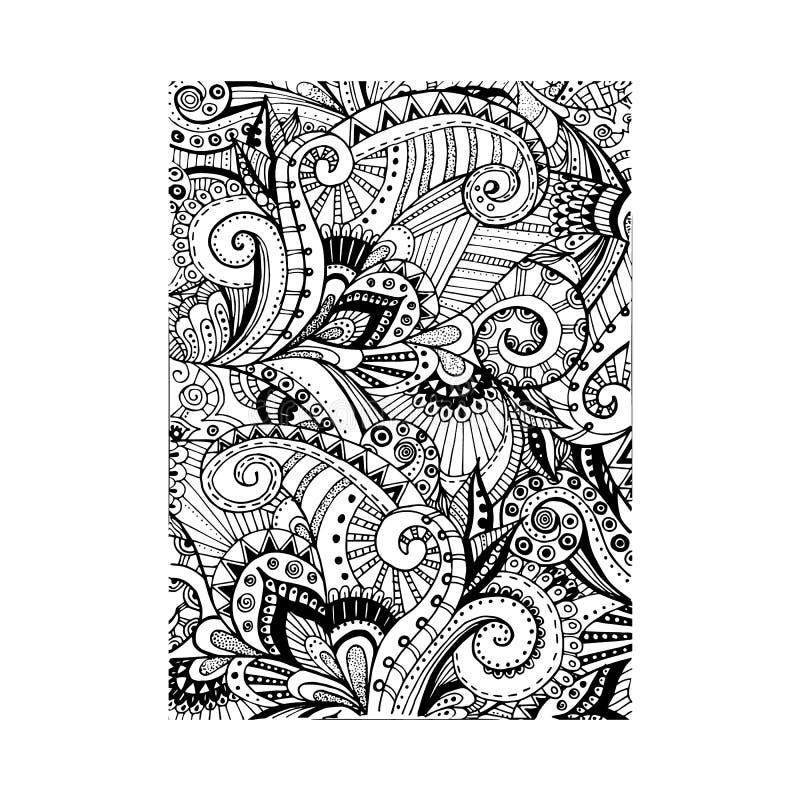 Il nero floreale astratto, illustrazione di vettore fotografie stock