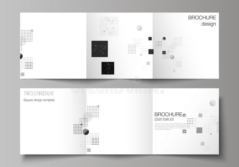 Il nero ha colorato l'illustrazione minima di vettore della disposizione editabile Modelli creativi moderni di progettazione dell illustrazione di stock