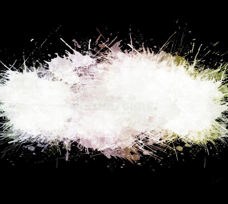 Il nero ha lavato la priorità bassa dello splatter dell'acquerello illustrazione di stock