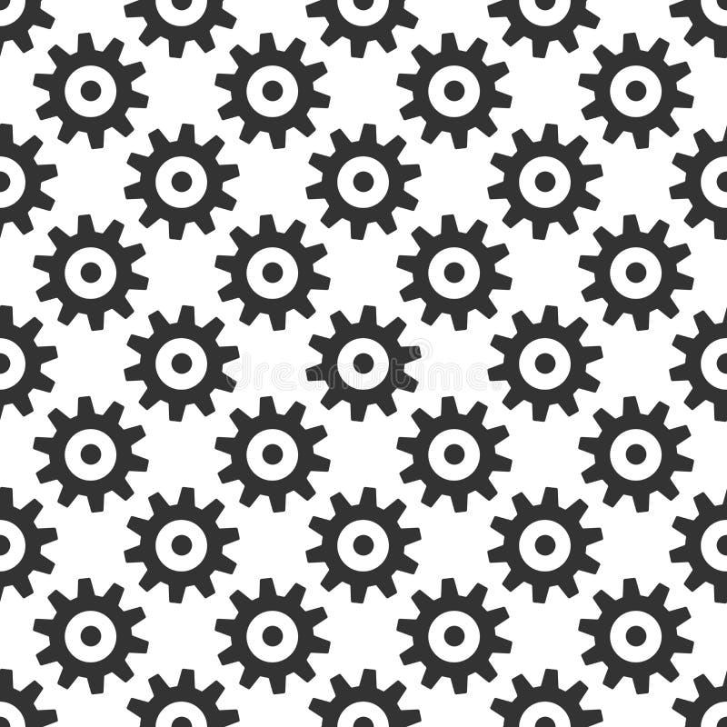 Il nero innesta il modello senza cuciture illustrazione vettoriale
