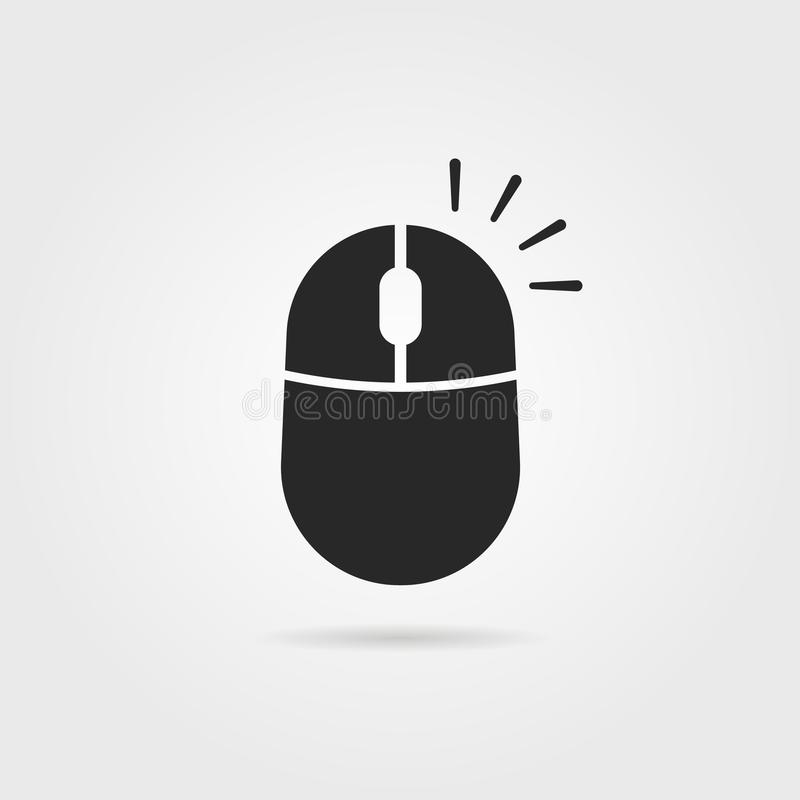 Il nero semplice clicca con il pulsante destro del mouse l'icona illustrazione di stock