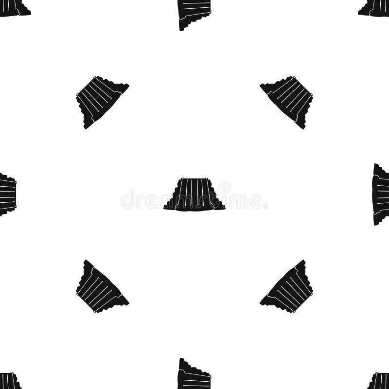 Il nero senza cuciture del modello di cascate del Niagara illustrazione di stock