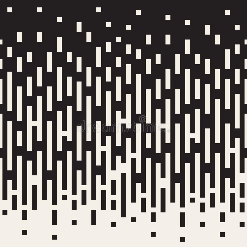 Il nero senza cuciture di vettore al rettangolo verticale bianco allinea la transizione geometrica di colore illustrazione vettoriale