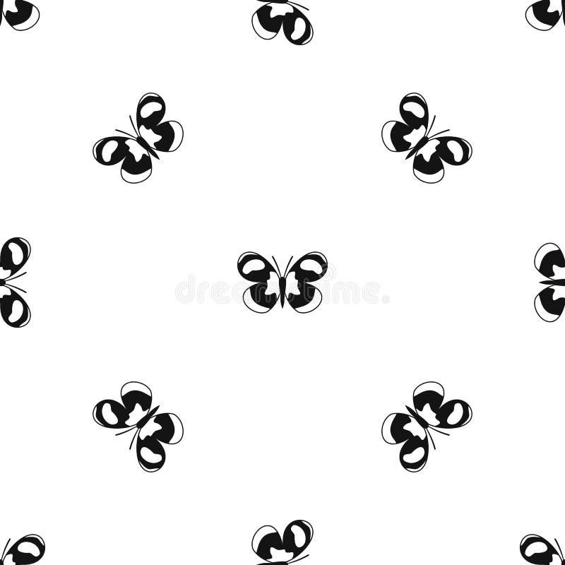 Il nero senza cuciture macchiato del modello di farfalla illustrazione vettoriale