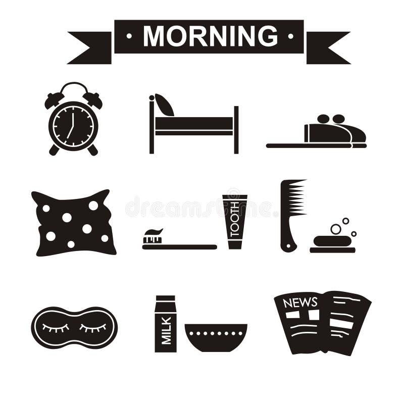 Il nero stabilito di mattina fotografia stock libera da diritti