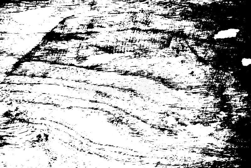 Il nero su struttura graffiata bianca Superficie del bordo del legname Sovrapposizione afflitta per effetto d'annata illustrazione vettoriale