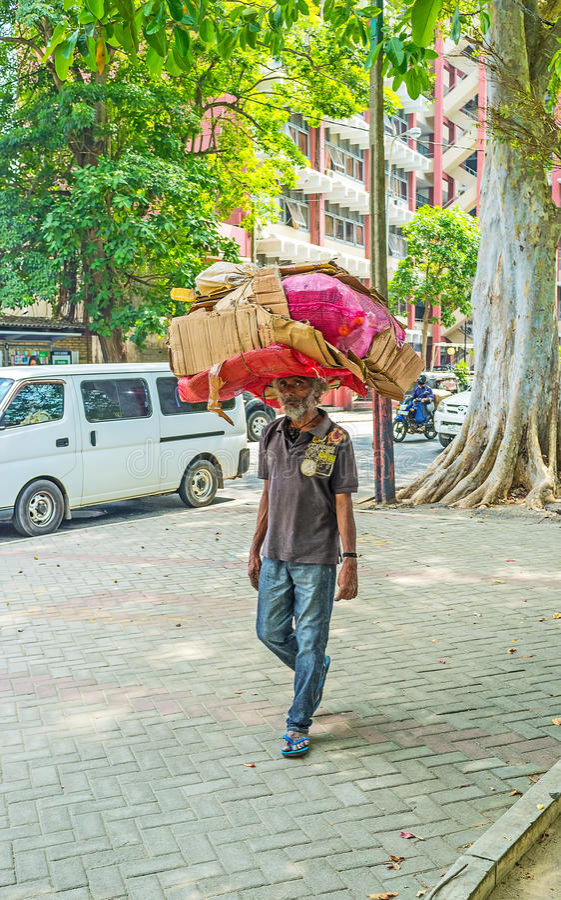 Il netturbino a Colombo immagine stock libera da diritti