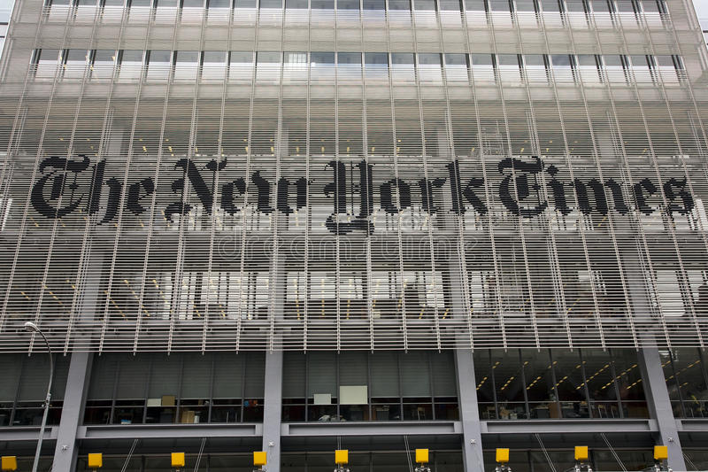 Il New York Times immagini stock