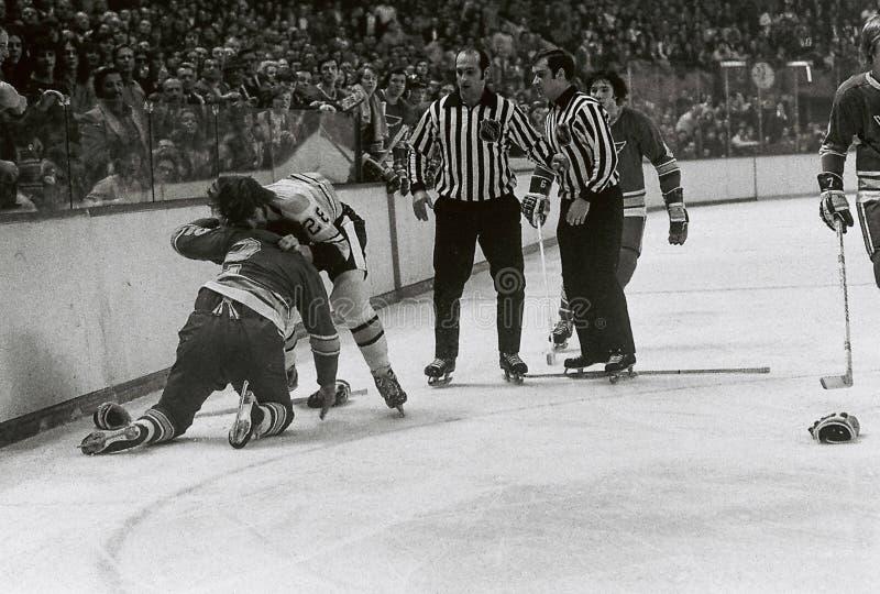 Il NHL dell'annata combatte immagine stock libera da diritti