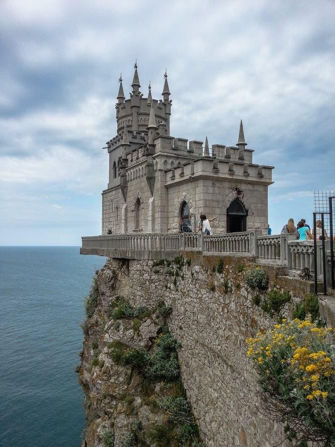 Il nido del sorso - un monumento architettonico della penisola della Crimea immagine stock libera da diritti
